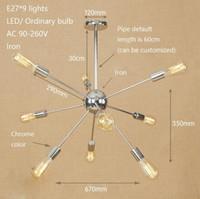 Ретро утюг паук подвесной светильник лофт промышленный спутниковый светильник современный LED E27 с 9/15/21 огни для гостиной ресторан