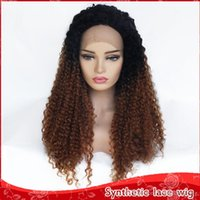 Free Shipping 26inch Ombre Brown Afro Kinky Curly Synthetic ...