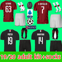 AC milan 19 20 soccer jersey 2019 2020 home away football me...