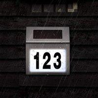 Selar alimentado LED sinal de luz casa hotel porta porta placa impermeável número dígitos placa lâmpada para sinal de iluminação sinal branco luz 10161