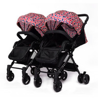 Twin baby stroller detachable can sit reclining boy and gril...