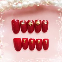 Girls Simple Color Punk Style Fake Nails Women Pure Color Sm...