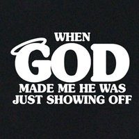 Funny Retro T- shirt God Made Me Perfect Clothing Tee Shirt C...