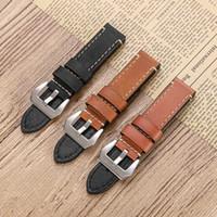Bracelet de montre 22 mm pour Samsung Gear S3 Classique / Frontier / Huawei Montre GT Sangle en cuir véritable pour MENS