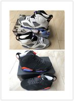 Wholesale 6 FIint men basketball designer shoes new 6s black...