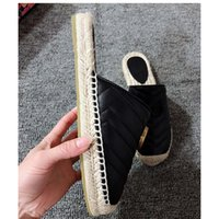 2019 Newest Women Slipper Genuine Leather Espadrille with Do...