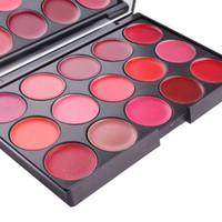 Nuovo arrivo trucco Vendita calda Cosmetici Miss Rose 15-Colour opaco rossetto duraturo labbra tavolozza 121pcs