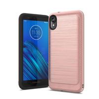 Чехол жесткого телефона для Foxxed Miro Motorola E6 / G7 PLAY / GALAXY NOTE10 / NOTE10 PRO HYBRID Удаленная защита от падения, почищенная начиная с щеткой