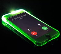 Cheap TPU+ PC LED Flash Light Up Case Remind Incoming Call Co...