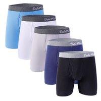 5 PC를 / 많은 남성 롱 복서와면 남성 속옷 복서 U-볼록 소프트 남성 사각 팬티 남성 EU / US 사이즈 M L XL XXL