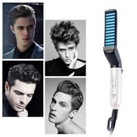 Мужчин быстрая борода гребень многофункциональный стайлер для выпрямления стайлер для завивки волос бигуди шоу Cap инструмент электрический волосы стайлер для волос Щетка для укладки