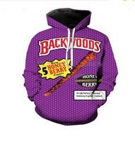 Yeni Moda Rahat 3D Baskı Hoodies Backwoods Erkekler / Kadınlar Sonbahar ve Kış Kazak Hoodies BC051