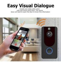 Chime Su geçirmez Gece Görüş Bulut Depolama IP Kapı Bell Kablosuz Ev Güvenlik Kamera ile Sıcak V7 Akıllı WiFi Kapı Diyafonu HD 1080P Kamera