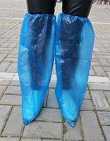 걸쭉 일회용 신발 커버 라이트 블루 컬러 투명 먼지 보호 부츠 슬리브 긴 길이 오버 슈를 들어 남성 여성 사용 0 3yq E19