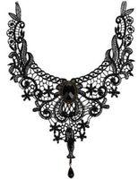 Europäische und amerikanische Damen neuer Spitze Halskette kreativer große Kragen Außenhandel Schmuck übertrieben