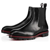 Venta-2019 zapatos calientes de la nueva manera de Superstar Diseñador Chunky talón del tobillo botines otoño West Hombres Crepe Botas Negro Marrón táctico plana de arranque