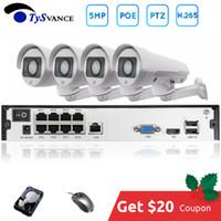 H.265 PTZ 5MP POE 4 채널 NVR 키트 CCTV 시스템 IP 카메라 2.8-12mm 4X IP66 야외 비바람에 잘 견디는 5.0MP 비디오 보안 감시
