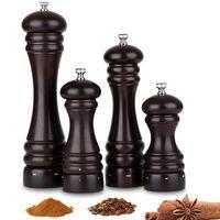 Sal y pimienta eléctricos de madera de haya molino de pimienta con los alimentos sanos de acero al carbono Grinder 5' 6' 8' 10' Herramientas manuales sal amoladora de cocina