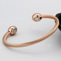 1pcs Healing Copper Magnetic Therapy Bracelet Bangle Arthrit...