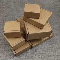 50 قطع كبير كرافت ورقة مربع البني كرتون مجوهرات مربع التعبئة والتغليف للشحن المموج ورقة سميكة البريدية 17sizes