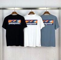 Moda camiseta As mulheres homens camisetas Casual para tops masculinos Tee Patagonia Camiseta