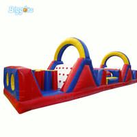 Curso de obstáculo inflável ao ar livre Castelo Bouncy Jogo de salto engraçado Jogo de esportes