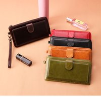 European and American Trendy Multi- card Leather Long Ladies ...