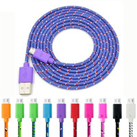 1m 2m Micro USB Cable 3FT 6FT 10FT Nylon Woven Cords Micro U...