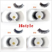 3D Mink Makeup Cross False Eyelashes Eye Lashes Extension Ha...