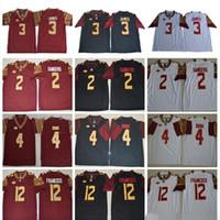 NCAA Florida Seminoles # 3 Derwin James 4 Dalvin Cook 5 Jameis Winston 2 Deion Sanders 12 Deondre Francois Fros College Football Jumsys