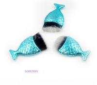 Losunny 3 قطع مجموعات واحدة صغيرة أسفل فرشاة حورية الذيل ماكياج فرشاة التجميل الألياف الشعر العطور العطور للنساء