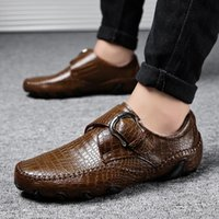 Leather men' s shoes men' s leather casual shoes out...