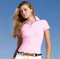 2019 New Womens Brand Brand Abbigliamento Camicia a manica corta Risvolto Business Donne Polo Camicia Big Case Coccodrillo Ricamo Cotone Donna Polo Camicia