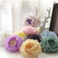 100 sztuk 12 cm 20Colors sztuczna róża jedwabny kwiat głowy DIY Dekoracyjne tło Drogowy LED Ściana Ściana Łuk Kwiat Bukiet Supermarket Rekwizyty