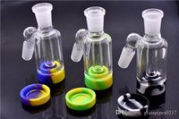 high quality Glass Ash Catcher with silicone container 14mmm...