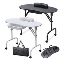 Foldable Portable Nail Table Manicure Equipment For Nail Sal...