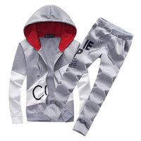 Tracksuit Mens Track Suit Set Fashion Style 2 Pieces Casual ...