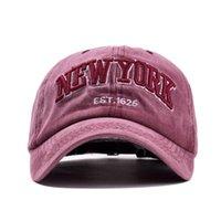 Ozyc الرمال غسلها القطن قبعة قبعة بيسبول للنساء الرجال خمر أبي قبعة نيويورك التطريز إلكتروني في الهواء الطلق قبعات الرياضة
