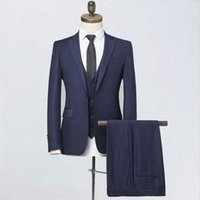 2020 Brand Hot Sell Black Navy Blue Slim Fit Mens Suits Set ...