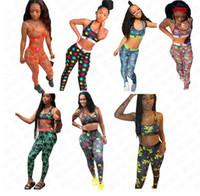 Yaz Kadın Tasarımcı Mayo Sutyen + Tayt Pantolon 2 Parça Mayo Mektuplar Çiçek Çiçekler Crwon Tasarım Baskı Beachwear Yüzmek Bezi D61705