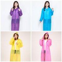 Sıcak Satış En Moda Kapüşonlular Panço Rainwears Plastik Şeffaf Tırmanma Zorunlu E19 7YT Man Woman 4 İçin Acil Trençkotlar Taşınabilir Yağmur Giyim