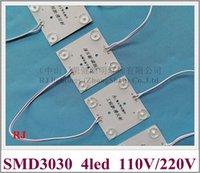 AC 110 V / AC 220V Modulo LED di ingresso Lampada a LED 69mm (L) * 69mm (W) * 5mm (H) SMD 3030 4 LED 4W (8 moduli + 1 driver / set) Lente diffusa
