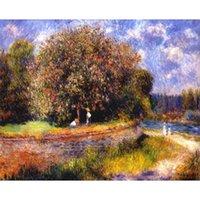 Portrait art Pierre Auguste Renoir Chestnut Tree Blooming Oil painting canvas artwork for living room decor hand painted