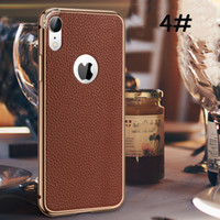 For iphone x phone case Business Leather metal frame ultra- t...
