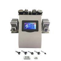 핫 휴대용 6in1 Lipo 레이저 캐비테이션 + RF 진공 RF 40K 공동 현상 진공 Lipolaser 슬리밍 체중 감량 기계 업 DHL 페덱스