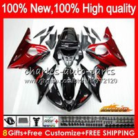 Кит для тела для Yamaha YZF600 Red Flame New YZF 600 R 6 600CC YZF R6 03-05 59HC.3 YZF-R6 YZF-600 YZFR6 03 04 05 2003 2004 2005 FACKING + 8GIFTS