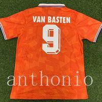Üst 1991/92 Hollanda Retro Futbol Formaları Star Van Basten 9 Rijkaard 4 Gullit 10 Cruyff 14 Koeman Someorf Futbol Gömlek Hollanda Bergkamp Kluivert Gömlek Boyutu S-XXL