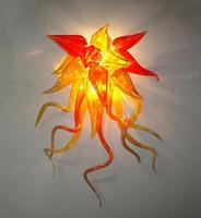 Современная лампа 110-240V Ретро Лофт Оранжевые Искусства Sconce Murano Стеклянные Стены Стены Светильники Светильники Для Детной комнаты Кафе Бар Домашний свет