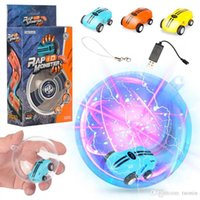 Mini High Speed Laser Light Cars Spinner 360 ° Rotaties Grappige Cool Lights USB Opladen Kinderen Speelgoed 360 ° Spin 2 Gear