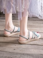 Flat sandals female fairy wind ins tide 2020 new summer net ...